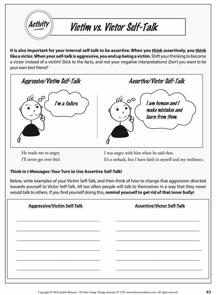 Positive Self Talk Worksheet Elegant 168 Best Images About Positive Thinking Lf Talk Cbt
