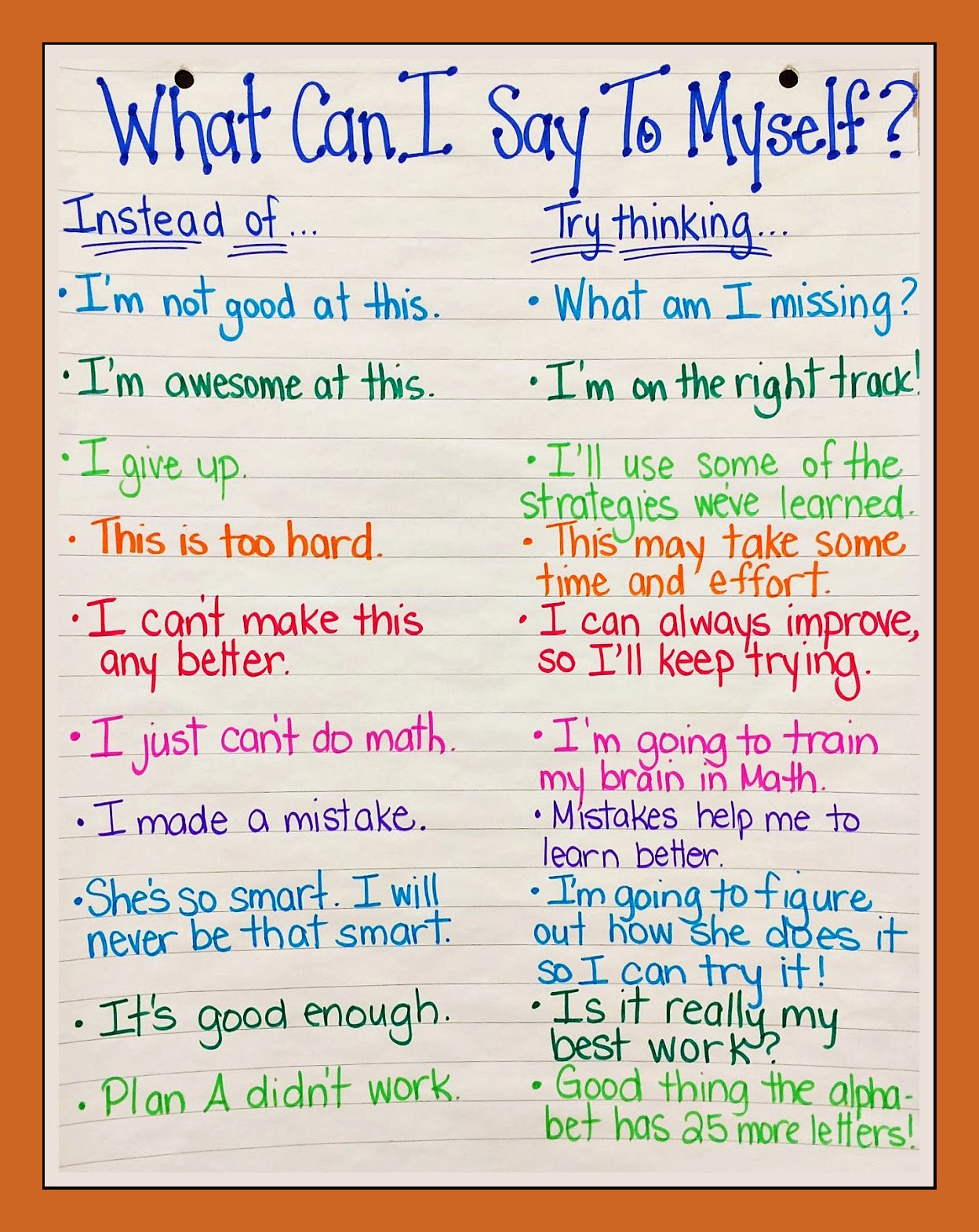 Positive Self Talk Worksheet New Positive Self Talk More Powerful Than You Think
