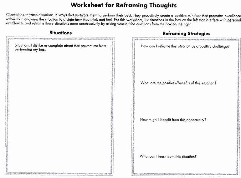 Positive Self Talk Worksheet Unique Positive Self Talk Worksheet