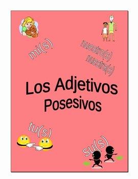 Possessive Adjectives Spanish Worksheet Best Of Possessive Adjectives Worksheets for Spanish by Christina