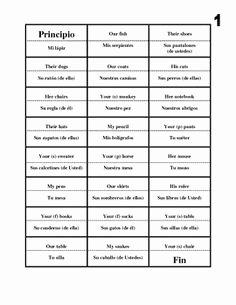 Possessive Adjectives Spanish Worksheet Luxury 1000 Images About Possessive Adjectives On Pinterest