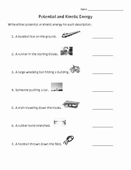 Potential and Kinetic Energy Worksheet Beautiful Potential and Kinetic Energy Review by Annette Hoover
