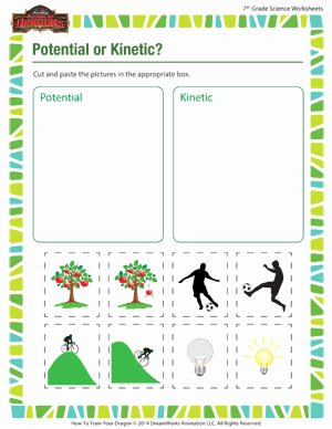 Potential and Kinetic Energy Worksheet Fresh Potential or Kinetic – Middle School Science Worksheets – sod