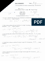 Potential and Kinetic Energy Worksheet New Work and Energy Worksheets Pdf