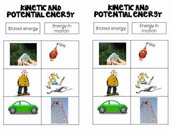 Potential Versus Kinetic Energy Worksheet Elegant Science Notebook Kinetic and Potential Energy Foldable