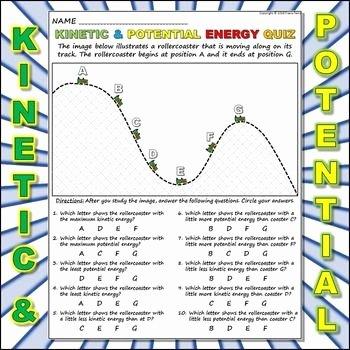 Potential Versus Kinetic Energy Worksheet Elegant Worksheet Kinetic Vs Potential Energy 2