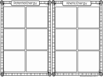 Potential Vs Kinetic Energy Worksheet Inspirational Potential Vs Kinetic Energy Free Cut & Paste Activity