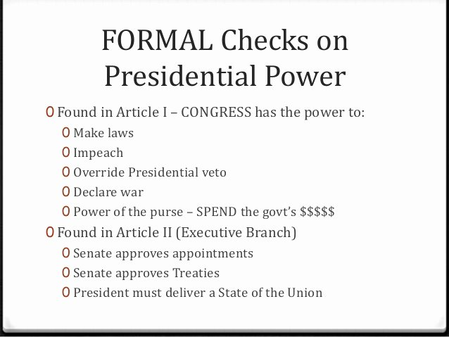 Powers Of Congress Worksheet Elegant Limits On Presidential Power