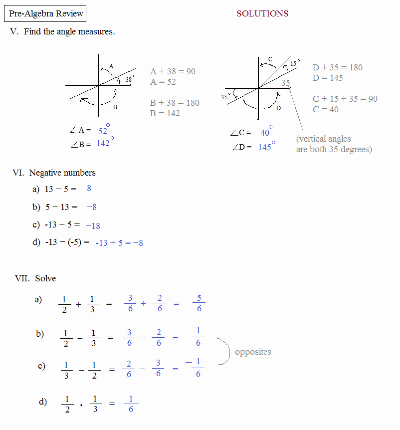 Pre Algebra Review Worksheet Inspirational Math Plane Pre Algebra Review 1