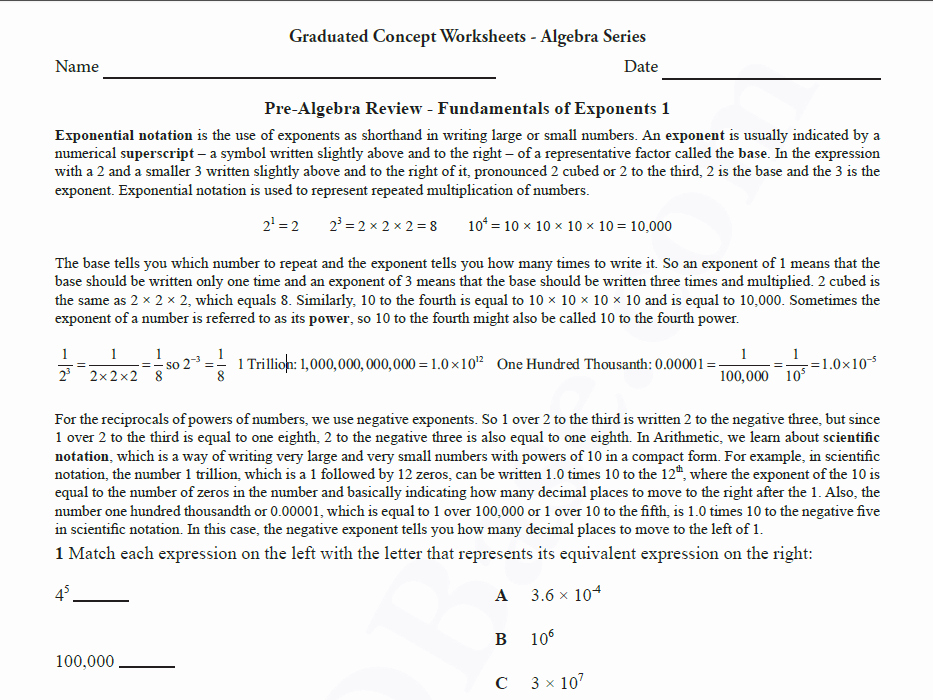 Pre Algebra Review Worksheet Lovely Basic Algebra Worksheet 6 – Pre Algebra Review