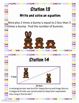 Pre Algebra Review Worksheet Unique 8th Grade Pre Algebra Review Easter Activity Spring Test