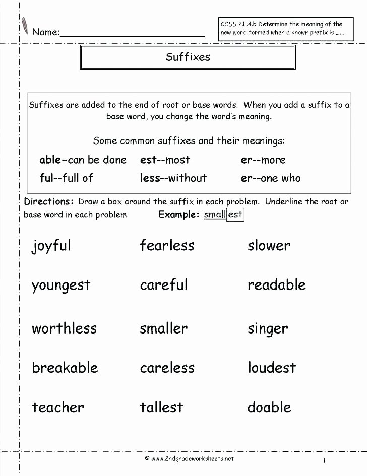 Prefixes and Suffixes Worksheet Awesome Phonics Worksheets Free Printouts From the Teachers Guide