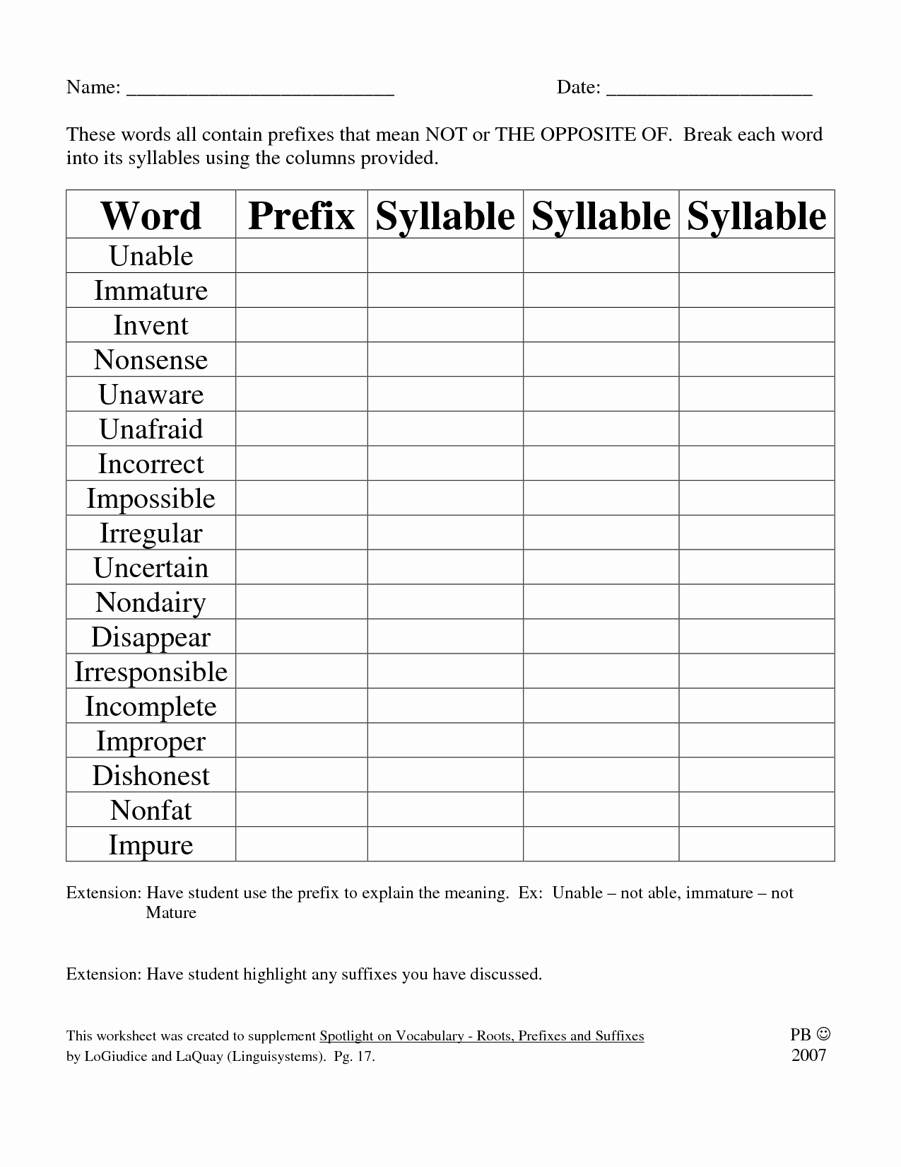 Prefixes and Suffixes Worksheet Elegant 19 Best Of Free Printable Prefix Worksheets 4th