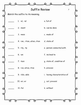 Prefixes and Suffixes Worksheet Fresh Prefix & Suffix Practice Pages Worksheets and Quizzes