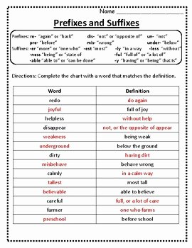 Prefixes and Suffixes Worksheet Lovely Root Words Prefixes and Suffixes Worksheet Prefixes and