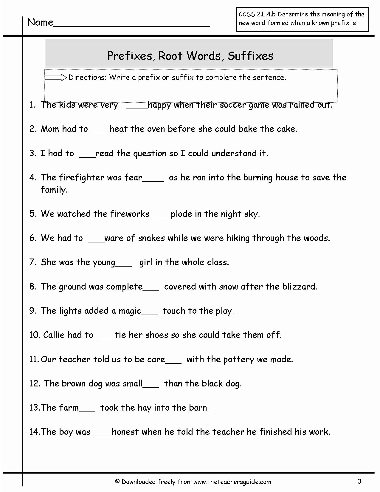 Prefixes and Suffixes Worksheet Unique Wonders Second Grade Unit Two Week Four Printouts