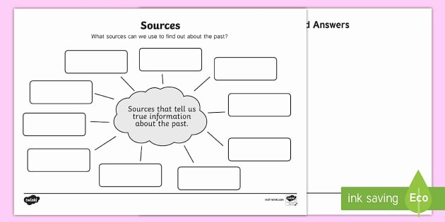 Primary and Secondary sources Worksheet Beautiful sources Differentiated Worksheet Activity Sheets Primary