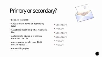 Primary and Secondary sources Worksheet Lovely Primary sources Vs Secondary sources by Melissa Mcdonough