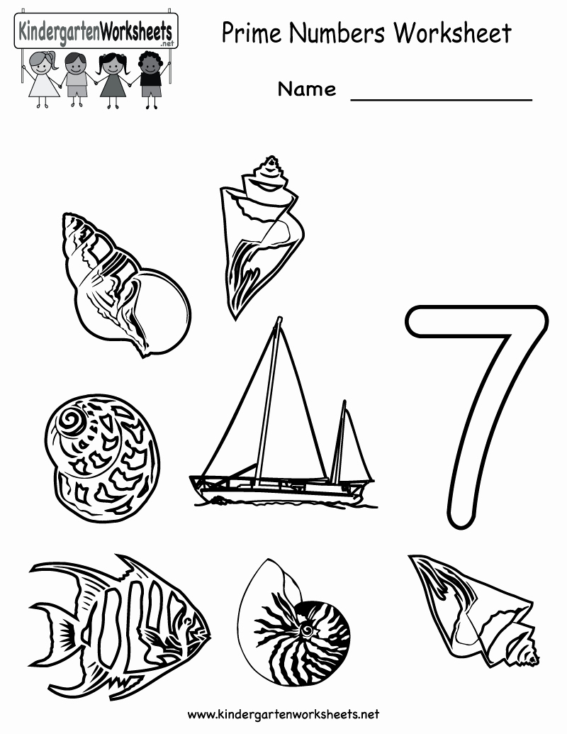 Prime and Composite Numbers Worksheet Lovely Kindergarten Prime Numbers Worksheet Printable