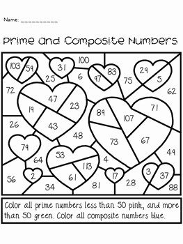 Prime and Composite Numbers Worksheet New Valentine S Day Prime and Posite Numbers Activity by