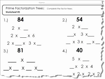 Prime Factorization Worksheet Pdf Best Of Factor Tree Worksheets