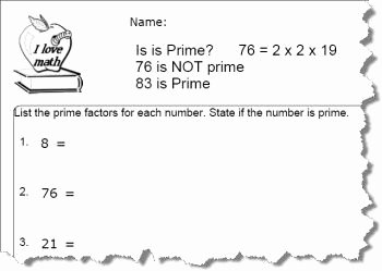 Prime Factorization Worksheet Pdf Best Of Practice Factoring Prime Numbers Worksheets