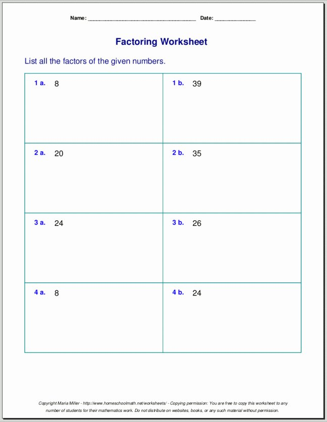 Prime Factorization Worksheet Pdf Inspirational Prime and Posite Numbers Worksheets 4th Grade
