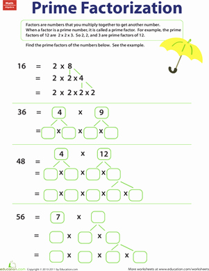 Prime Factorization Worksheet Pdf New Prime Factorization Worksheet