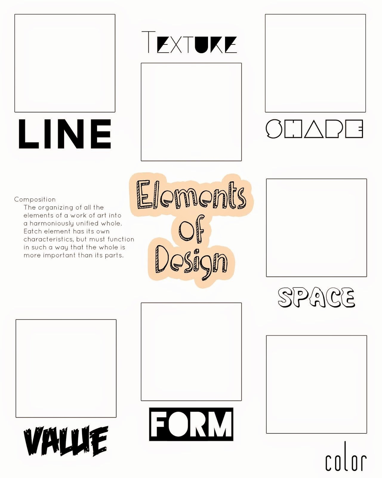 Principles Of Design Worksheet Awesome Artimus Prime 7th Elements and Principles Of Design Unit
