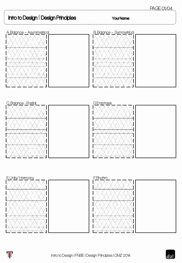 Principles Of Design Worksheet Beautiful Worksheet for Design Principles