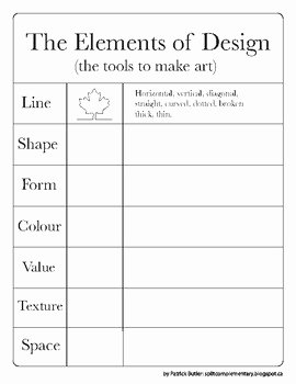 Principles Of Design Worksheet Best Of the Elements and Principles Of Design Worksheets by Split
