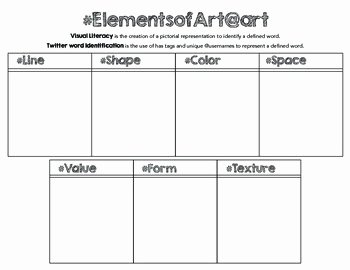 Principles Of Design Worksheet Inspirational Tweet the Elements and Principles Of Art Printable