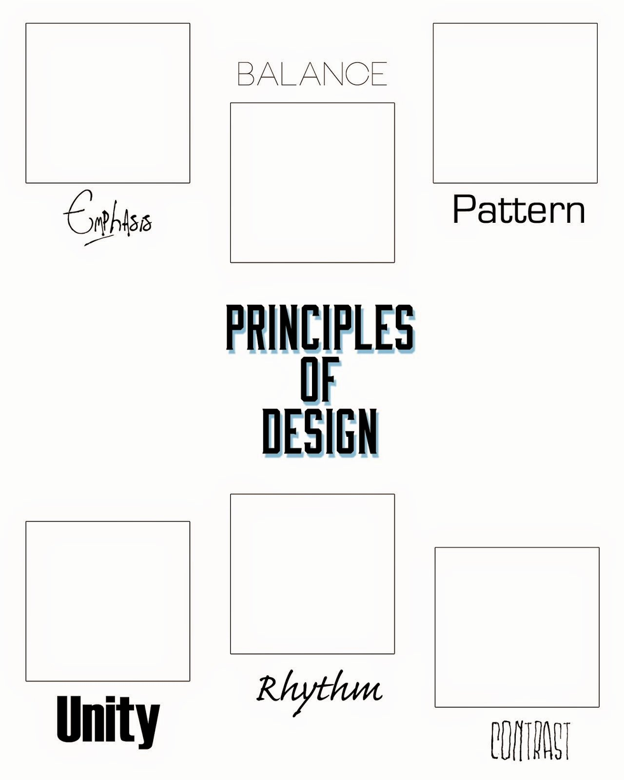 Principles Of Design Worksheet Lovely Artimus Prime 7th Elements and Principles Of Design Unit
