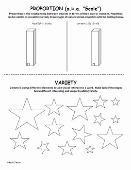 Principles Of Design Worksheet Lovely Elements Of Art and Principles Of Design Worksheet