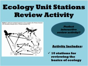 Principles Of Ecology Worksheet Answers Awesome Ecology Review Stations – A Review Strategy