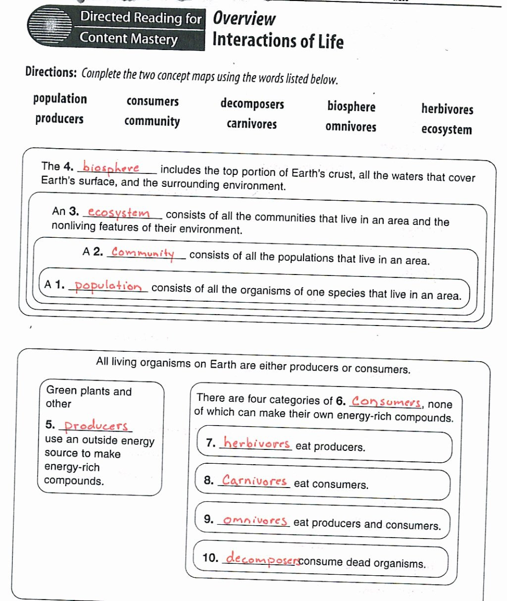 Principles Of Ecology Worksheet Answers Luxury Ecology Quiz Questions Biological Science Picture