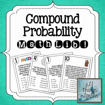 Probability Of Compound events Worksheet Awesome Pound Probability Math Lib