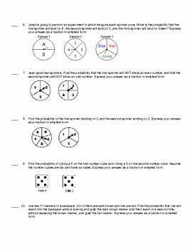 Probability Of Compound events Worksheet Best Of Pound Probability Quiz by Stephanie Mclaughlin