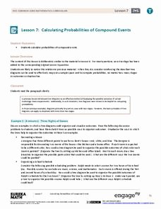 Probability Of Compound events Worksheet New Pound events Lesson Plans & Worksheets