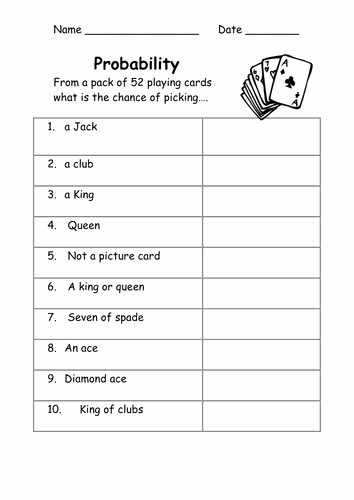 Probability Worksheet High School Best Of Probability Worksheets Easy by Kicha