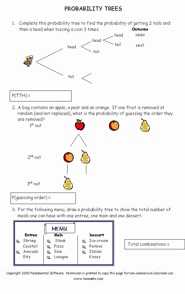 Probability Worksheet High School Inspirational Free Math Worksheet From