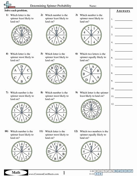 Probability Worksheet High School Inspirational Probability Worksheet