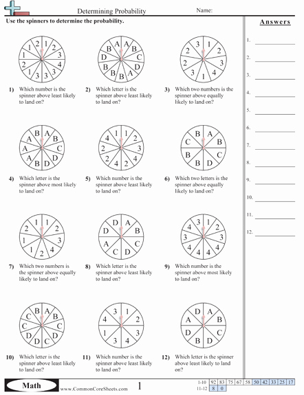 Probability Worksheet High School Lovely Probability Worksheets Math Pinterest