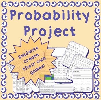 Probability Worksheet High School New theoretical & Experimental Probability Project Middle
