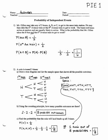 Probability Worksheet with Answers Luxury Probability Worksheet Ship
