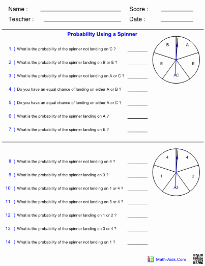 Probability Worksheet with Answers Unique Probability Worksheets with Answer Sheet I Teachersherpa