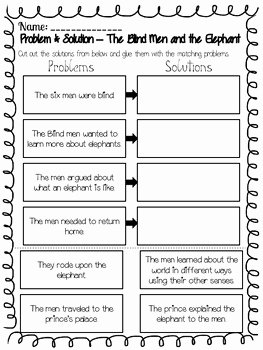 Problem and solution Worksheet Awesome Problem and solution Worksheet the Best Worksheets Image