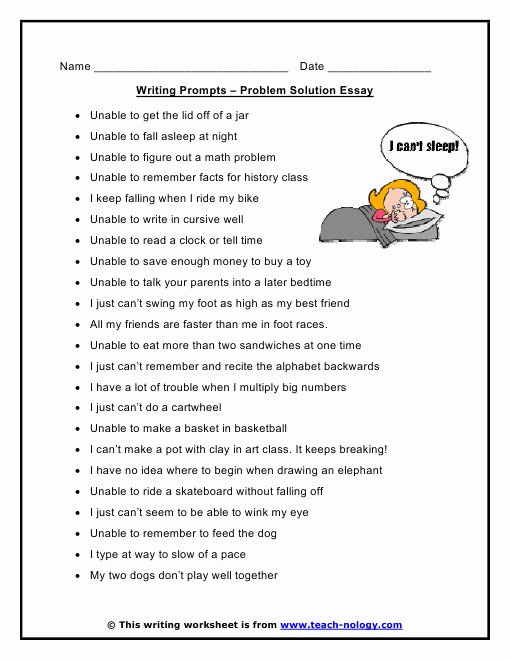 Problem and solution Worksheet Fresh Problem and solution Worksheets