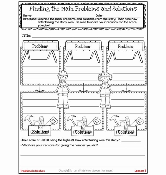 Problem and solution Worksheet Inspirational Problem and solution Free Graphics and Graphic organizers