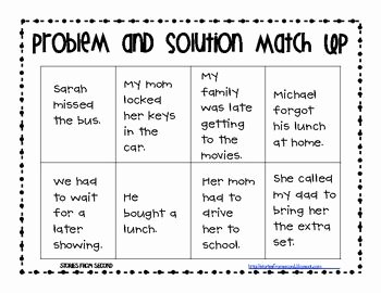 Problem and solution Worksheet Lovely 25 Best Ideas About Problem and solution On Pinterest